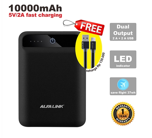 POWER BANK 10000 RC BLACK