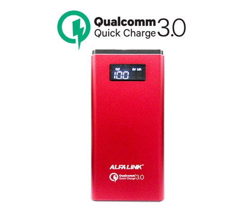 ALFA LINK POWER BANK AP 10000QC RED