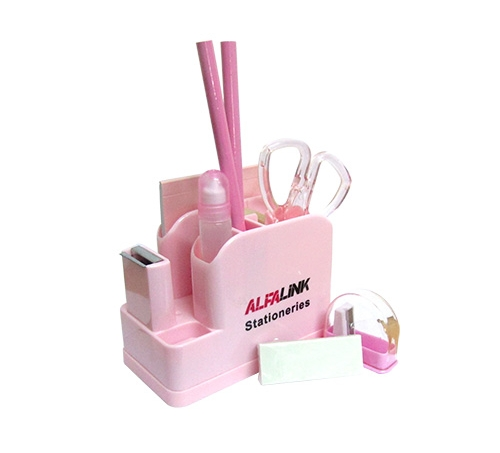 ALFA LINK STATIONARY SET PINK
