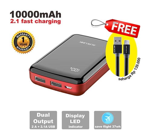ALFA LINK Power Bank 10000 A Red