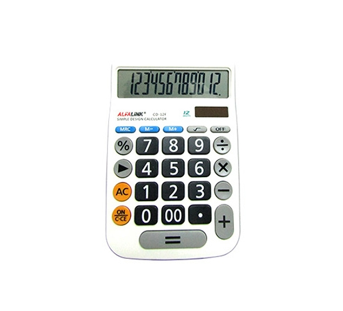 CALCULATOR CD-12F BLACK