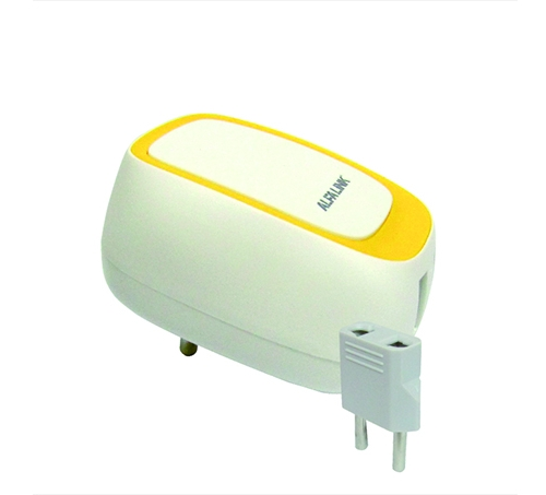 DUAL USB CHARGER (ACS-2) YELLOW