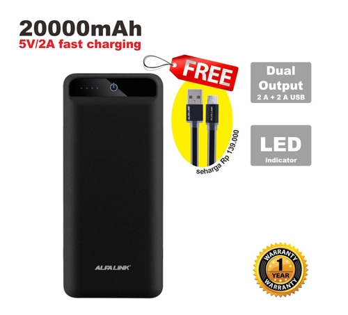 POWER BANK 20000 RC BLACK