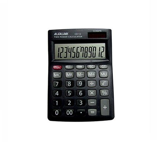 CALCULATOR CD-12 BLACK