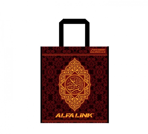 ALFA LINK NON WOVEN BAG (TOTE BAG) PURPLE