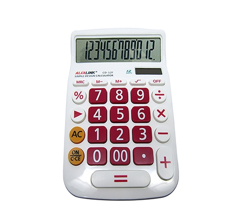 CALCULATOR CD-12F RED
