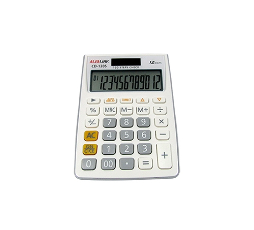 CALCULATOR CD-120S WHITE