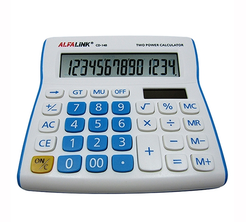 CALCULATOR CD-14B BLUE