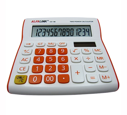 CALCULATOR CD-14B ORANGE
